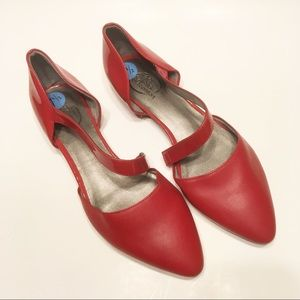 LifeStride Zalana Simply comfort red D'orsay flats
